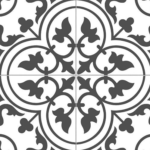 Ledbury Charcoal Black 45cm x 45cm Wall & Floor Tile