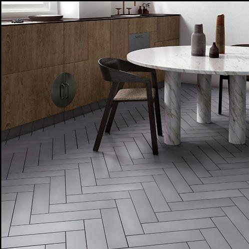 Stromboli Simply Grey 9.2cm x 36.8cm Wall & Floor Tile