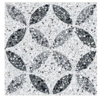 Micro Terrazo Flower 20cm x 20cm