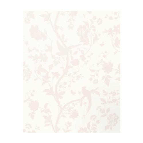Oriental Garden Pale Biscuit Splashback  600mm x 750mm x 6mm