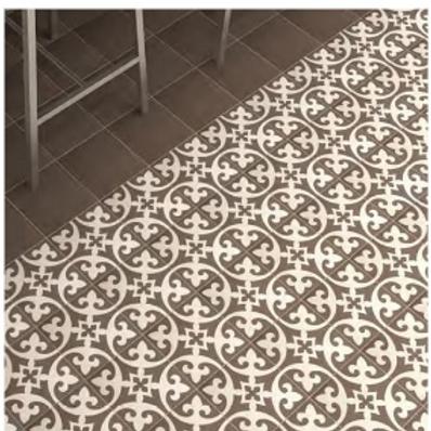 Vintage Firenze Dark Grey 20cm x 20cm Wall & Floor Tile