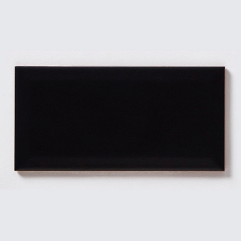 Metro Brick Matt Black 10cm x 20cm Wall Tile