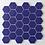 Thumbnail: Hexagon Oxford Blue Matt (5.1 cm x 5.9cm) 30cm x 28cm Mosaic Tile