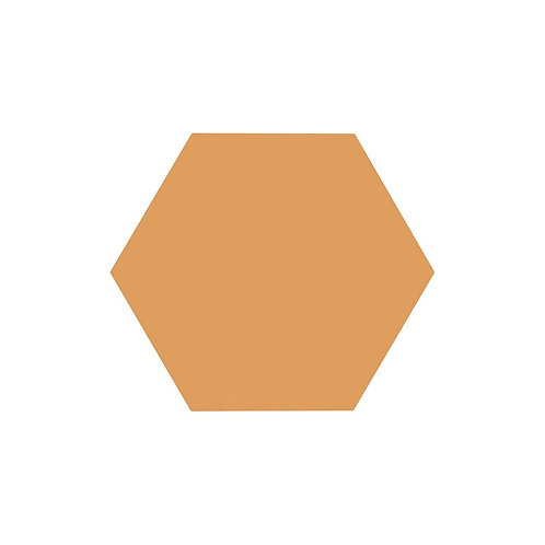Lily Hex Base Hexagon Blaze Orange 22.8cm x 19.8cm Wall & Floor Tile