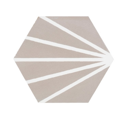 Lily Hex Hexagon Clay 22.8cm x 19.8cm Wall & Floor Tile
