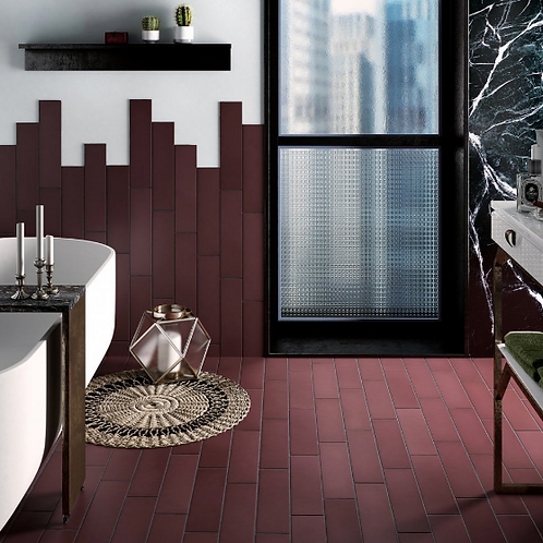 Stromboli Oxblood 9.2cm x 36.8cm Wall & Floor Tile