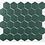Thumbnail: Hexagon Buckingham Green Matt (5.1cm x 5.1cm) 30cm x 28cm Mosaic Tile