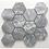 Thumbnail: De-Lux Lead Hexagon Mosaic 7.2cm x 8.2cm) 26cm x 27.8cm Wall & Floor Til