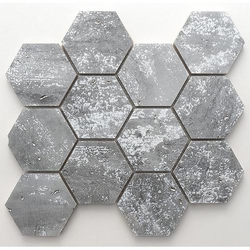 De-Lux Lead Hexagon Mosaic 7.2cm x 8.2cm) 26cm x 27.8cm Wall & Floor Til