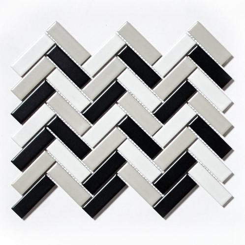 Herringbone Matt Mix 31.8cm x 24.7cm Wall & Floor Mosaic