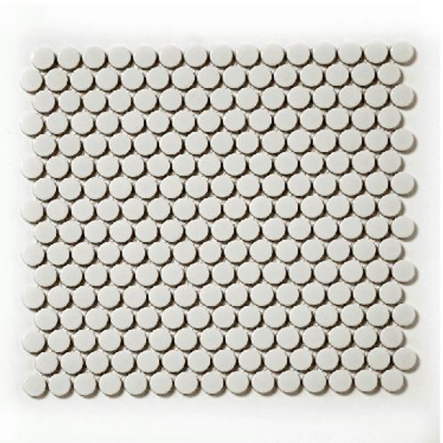 Victorian Penny Gloss Medium Grey 30cm x 30cm Porcelain Mosaic