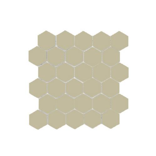 Hexagon Beige Gloss (4.8 cm x 4.8cm) 32cm x 28cm Mosaic Tile