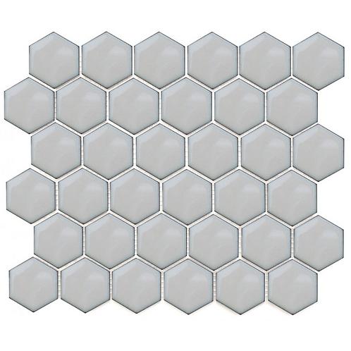 Hexagon Duck Egg Gloss (4.8 cm x 4.8cm) 32cm x 28cm Mosaic Tile