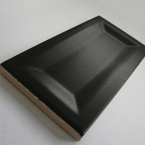 InMetro Black Matt 7.5cm x 15cm Wall Tile