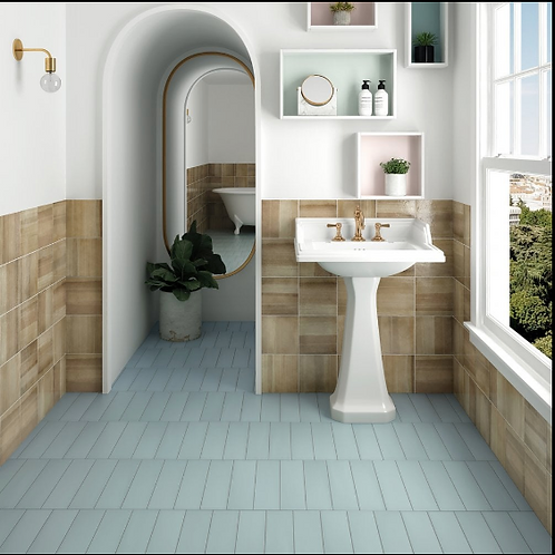 Stromboli Bahia Blue 9.2cm x 36.8cm Wall & Floor Tile