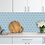 Thumbnail: Hexagon Matt Blue Mosaic (9.5cm x 9.5cm) 29.5cm x 25.6cm Wall & Floor Tile