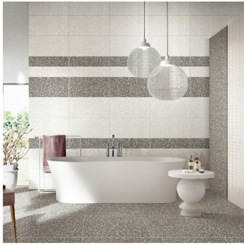 Terrazzo Medium Grey 30cm x 60cm Wall & Floor Tile