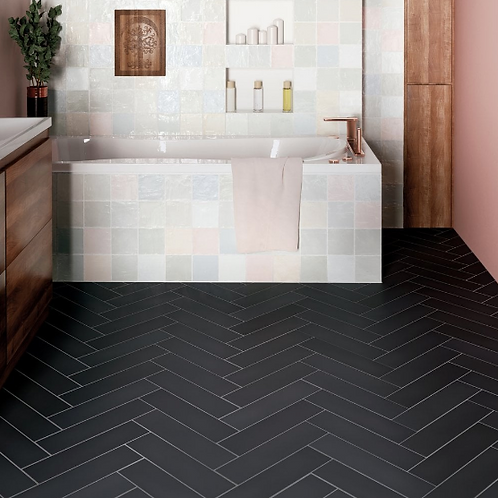 Stromboli Black City 9.2cm x 36.8cm Wall & Floor Tile