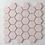 Thumbnail: Hexagon Soft Pink Matt (5.1 cm x 5.9cm) 30cm x 28cm Mosaic Tile