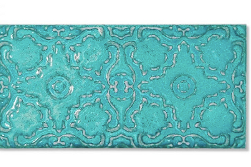 Zurbaran Turquoise 11.2cm x 22.4cm Wall Tile