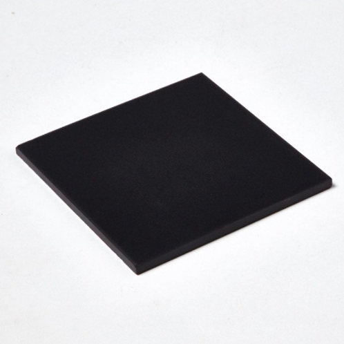 Unglazed Black Quarry 14.6cm x 14.6cm Floor Tile