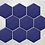 Thumbnail: Hexagon Oxford Blue Matt Mosaic (9.5cm x 9.5cm) 29.5cm x 25.6cm Wall & Floor Til