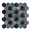 Thumbnail: Hexagon Midnight Marble (4.8cm x 4.8cm) 30cm x 30cm Mosaic Tile
