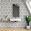 Thumbnail: Geometric Hexagon Mix (2.3cm x 2.3cm) 30.3cm x 52.5cm Mosaic Tile
