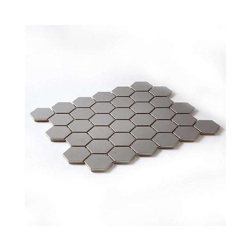 Silver Hexagon Mosaic 295mm x 305mm x 8mm