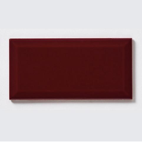 Metro Brick Gloss Burgundy 10cm x 20cm Wall Tile