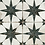 Thumbnail: Scintilla Black Star Pattern 45cm x 45cm Wall & Floor Tile