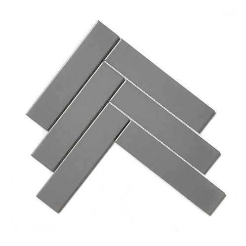 Herringbone Grey Matt 20.4cm x 28cm (4.5cm x 19.5cm) Wall & Floor Mosaic