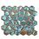 Thumbnail: Hexagon Oxidised Forest (5.1cm x 5.9cm) 29.5cm x 30.5cm Mosaic Tile