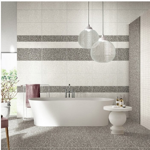 Terrazzo Light Grey 30cm x 60cm Wall & Floor Tile