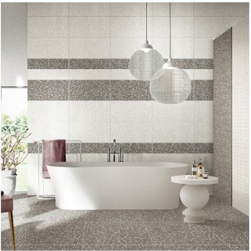Terrazzo Light Grey 60cm x 60cm Wall & Floor Tile