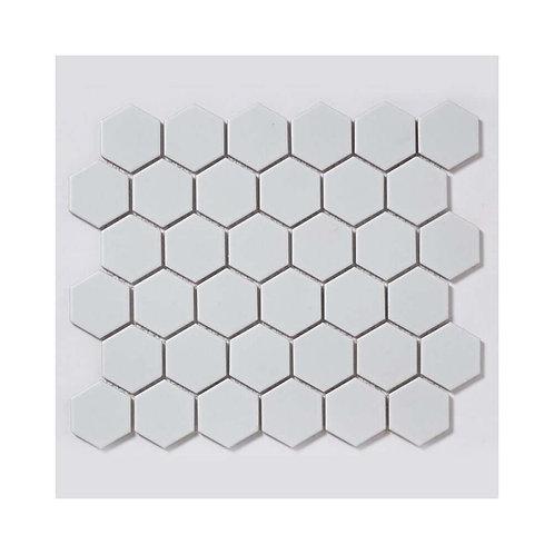 White Hexagon Matt Porcelain Mosaic 300mm x 280mm x 5mm