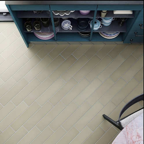 Stromboli Evergreen 9.2cm x 36.8cm Wall & Floor Tile