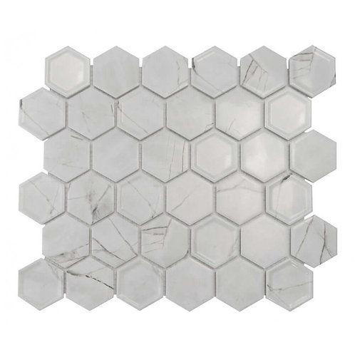 Tablet Statuario Hexagon Mosaic 320mm x 280mm x 4mm