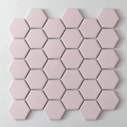 Blush Pink Matt Mosaic 300mm x 280mm x 5mm