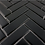 Thumbnail: Herringbone Black Matt 31.8cm x 24.7cm Wall & Floor Mosaic