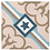Thumbnail: Vintage Starcrest 20cm x 20cm Wall & Floor Tile
