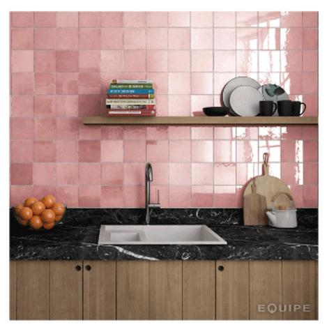 Artisan Rose Mallow 13.2cm x 13.2cm Wall Tile
