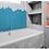 Thumbnail: Hexagon Teal Matt (5.1cm x 5.1cm) 32.5cm x 28.1cm Mosaic Tile