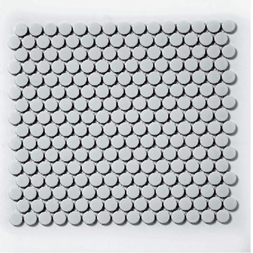 Victorian Penny Gloss Light Grey 30cm x 30cm Porcelain Mosaic