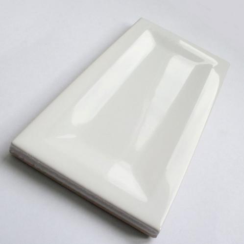 InMetro White Gloss 7.5cm x 15cm Wall Tile