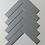 Thumbnail: Herringbone Light Grey Matt 20.9cmx 24.7cm (3.2cmx 14.5cm) Wall Mosaic