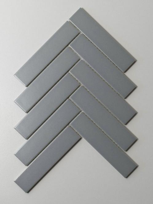Herringbone Light Grey Matt 20.9cmx 24.7cm (3.2cmx 14.5cm) Wall Mosaic