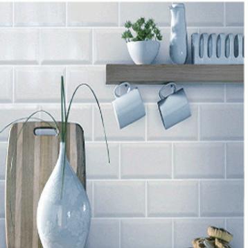 Metro Brick Gloss Light Grey 10cm x 20cm Wall Tile