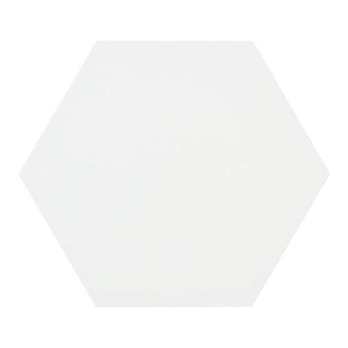 Lily Hex Base Hexagon White 22.8cm x 19.8cm Wall & Floor Tile
