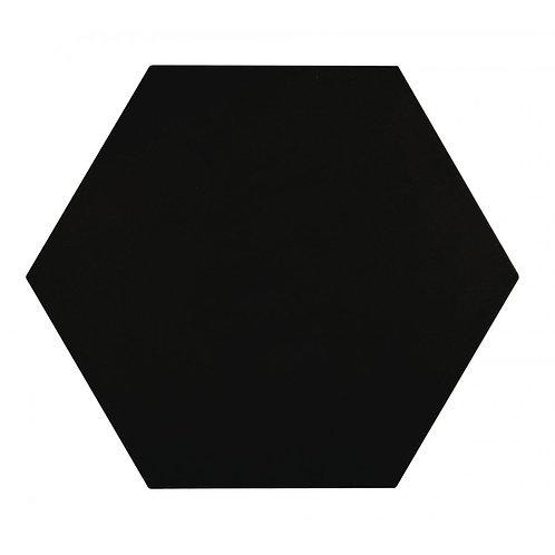 Lily Hex Base Hexagon Black 22.8cm x 19.8cm Wall & Floor Tile